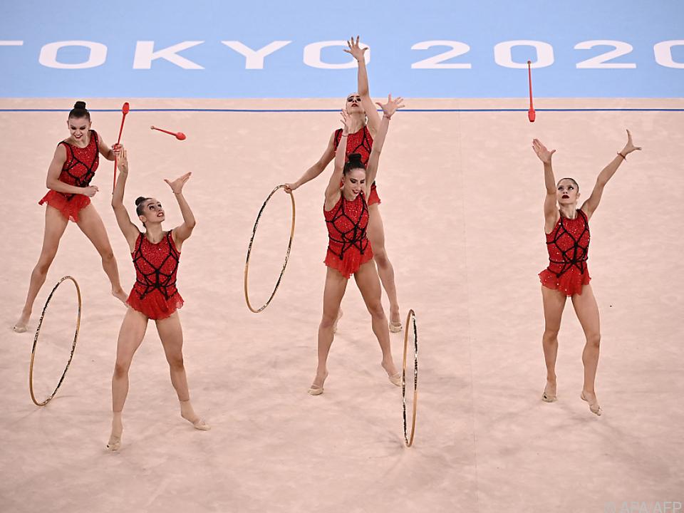 Bulgariens Gymnastinnen waren in der Gruppe nicht zu schlagen