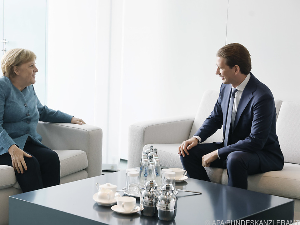 Bundeskanzler Kurz bei Merkel in Berlin