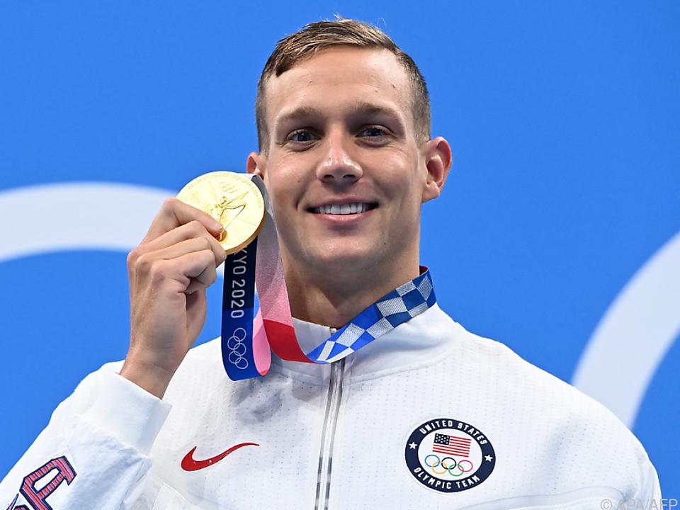 Caeleb Dressel belohnte sich mit fünf Schwimm-Goldmedaillen