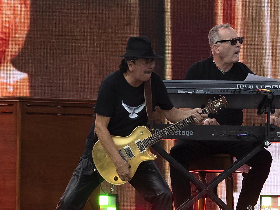 Carlos Santana konnte noch auftreten