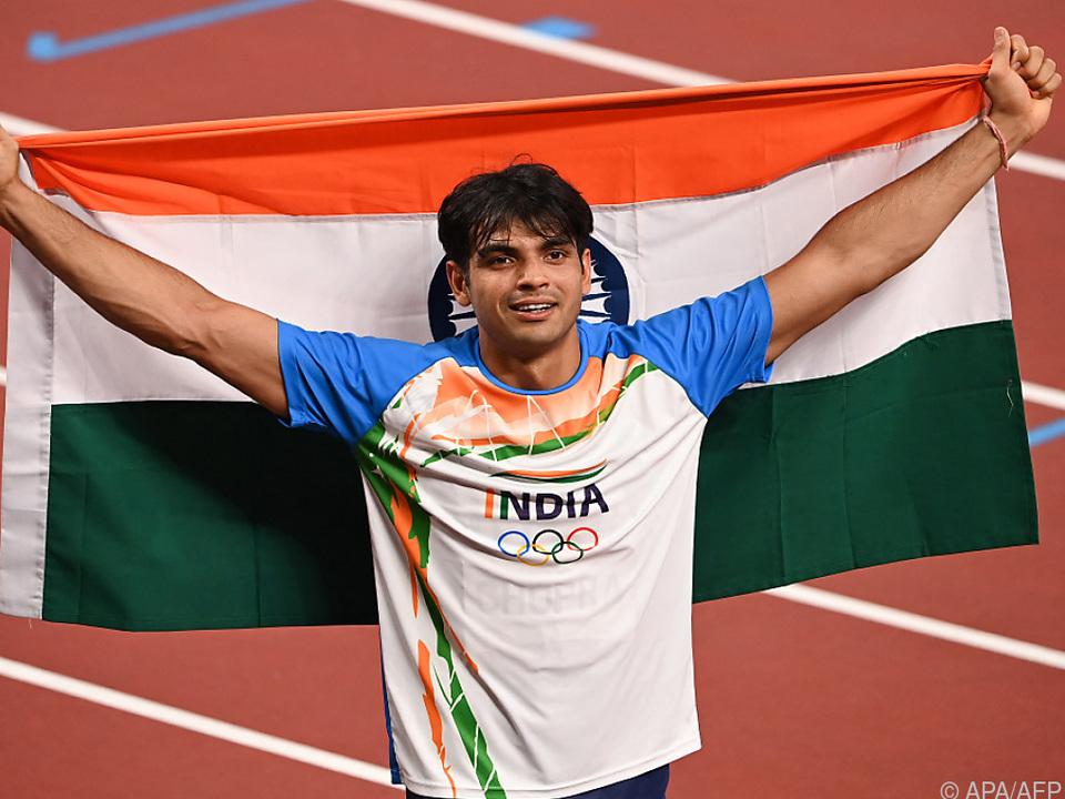 Chopra gewann historisches Gold für Indien