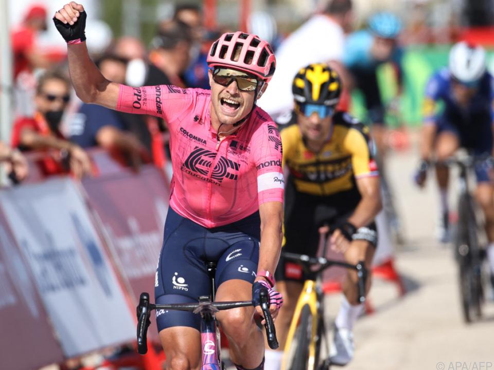 Cort Nielsen bejubelte seinen zweiten Vuelta-Etappensieg