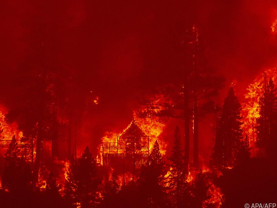 Das Feuer brennt seit Mitte August