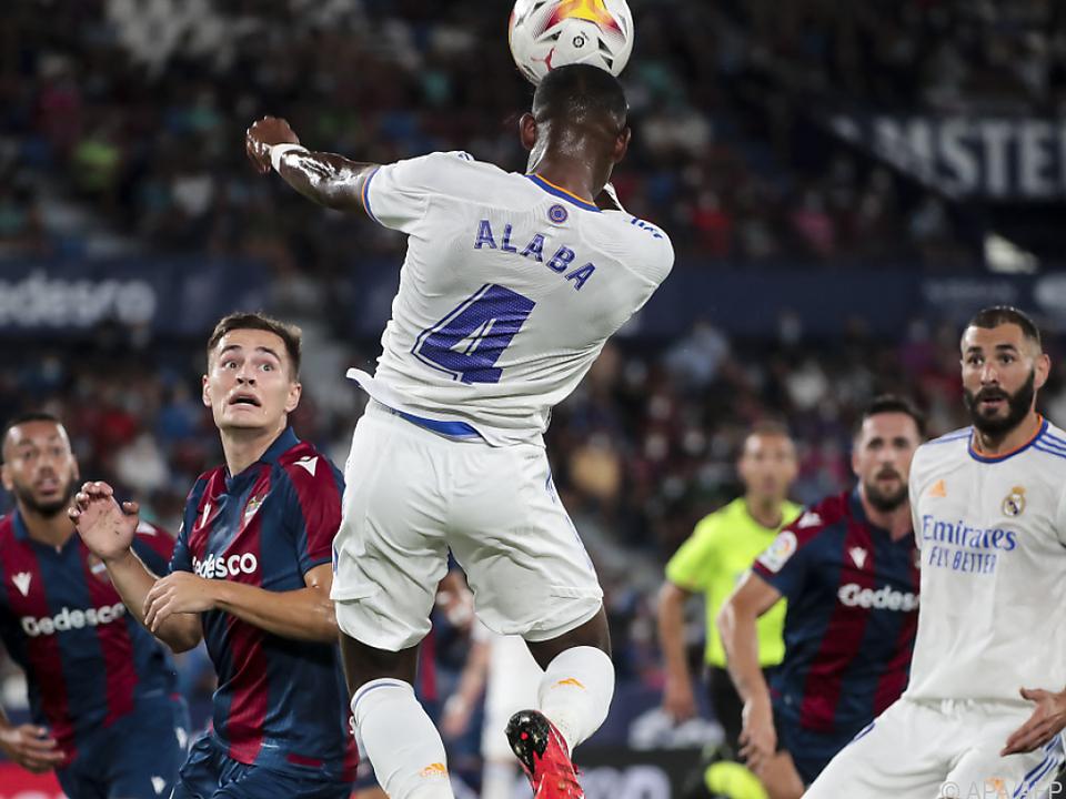 David Alaba zeigt gegen Levante Einsatz