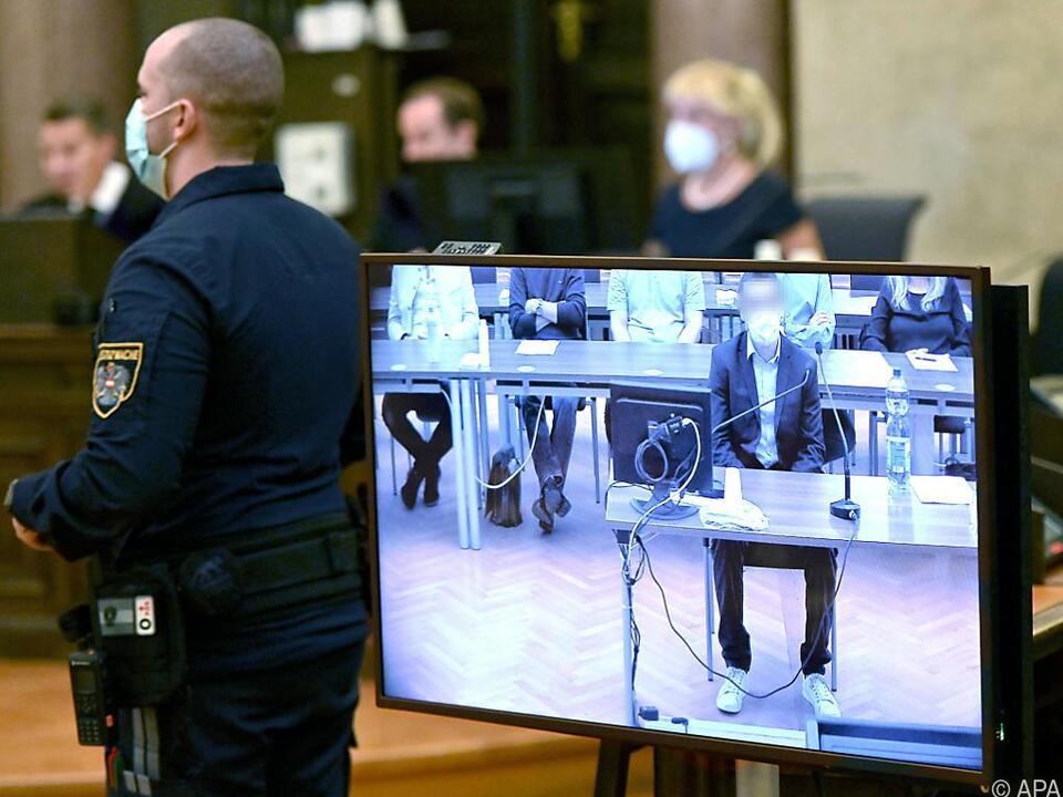 Der Angeklagte im Straflandesgericht Wien