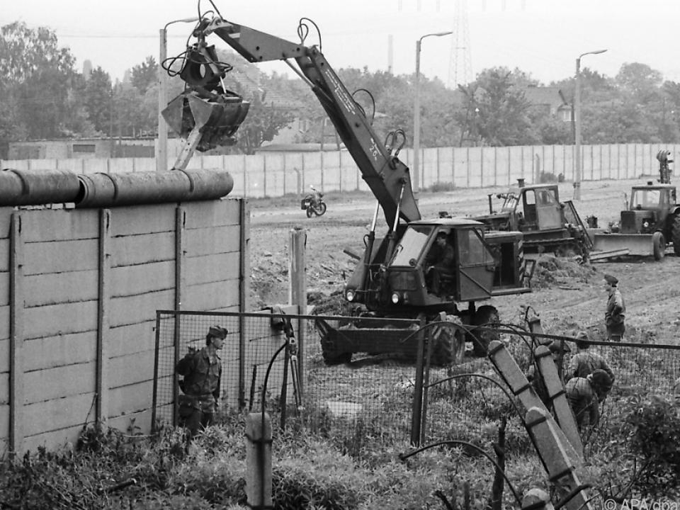 Der Bau der Berliner Mauer jährt sich zum 60. Mal
