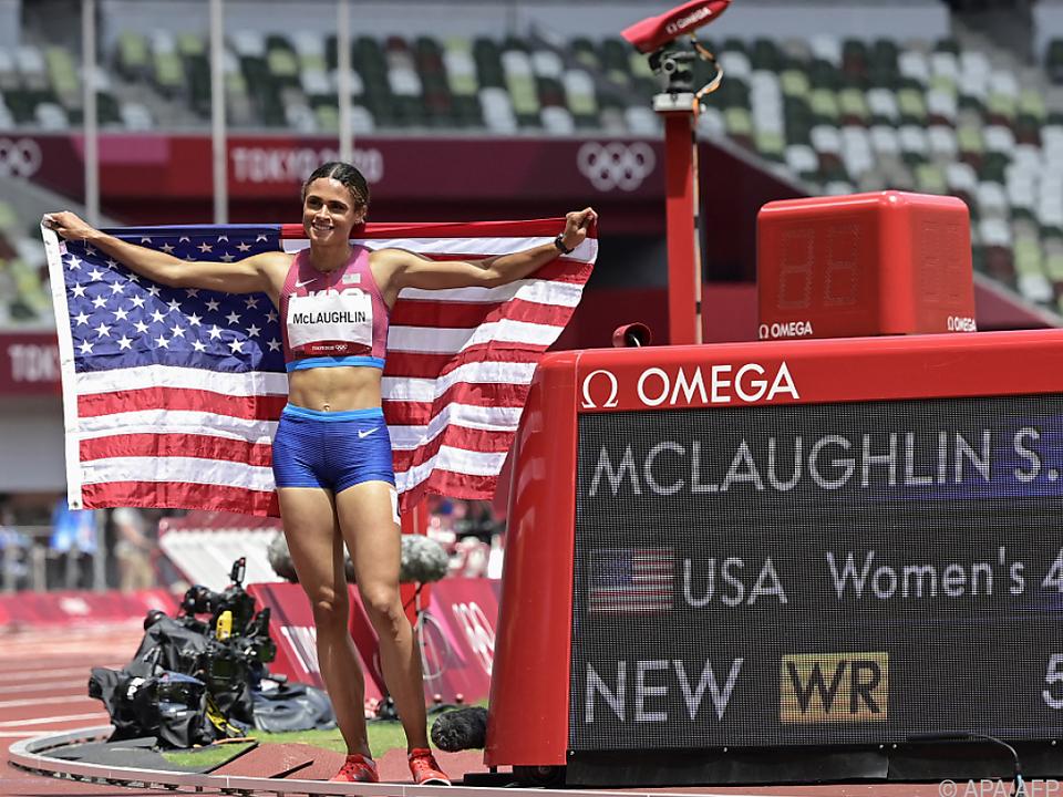 Der nächste Weltrekord: McLaughlin trumpfte über 400 m Hürden auf