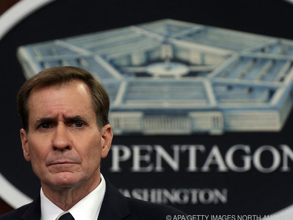 Der Sprecher des US-Verteidigungsministeriums, John Kirby