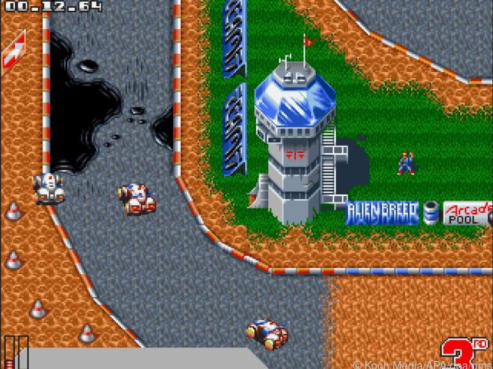 Eines der 25 mitgelieferten klassischen Amiga-Spiele: \
