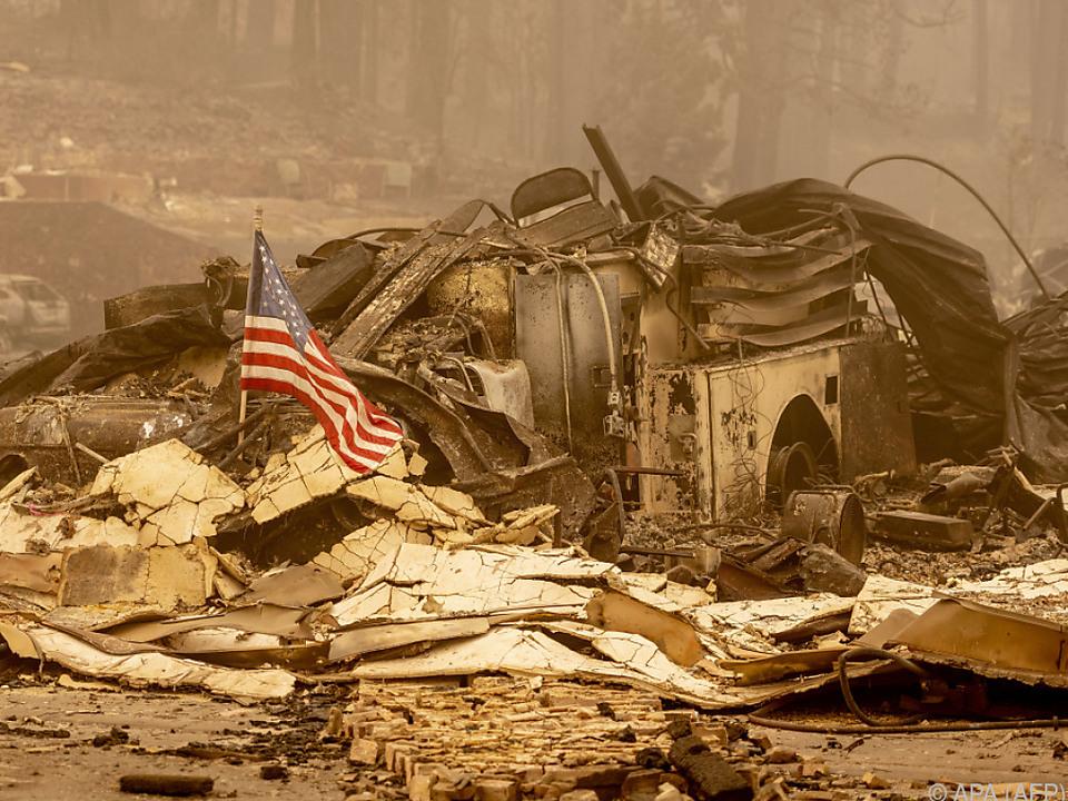 Die frühere Goldgräber-Stadt Greenville ist abgebrannt.