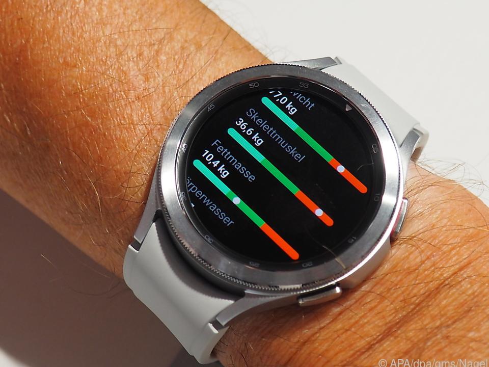 Die Galaxy Watch 4 kann noch mehr Daten erfassen als andere Modelle