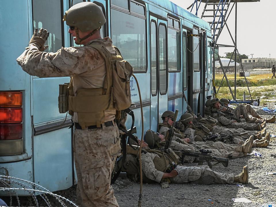 Die US-Soldaten sollen bis Dienstag alle aus Afghanistan abziehen