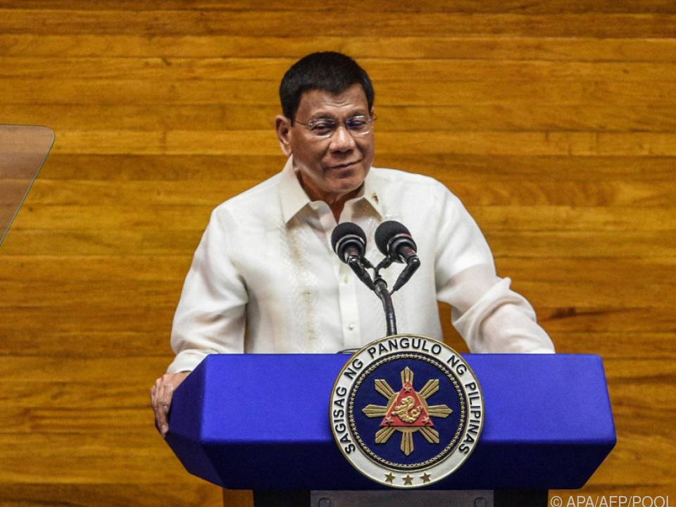 Duterte will nicht von der Macht lassen
