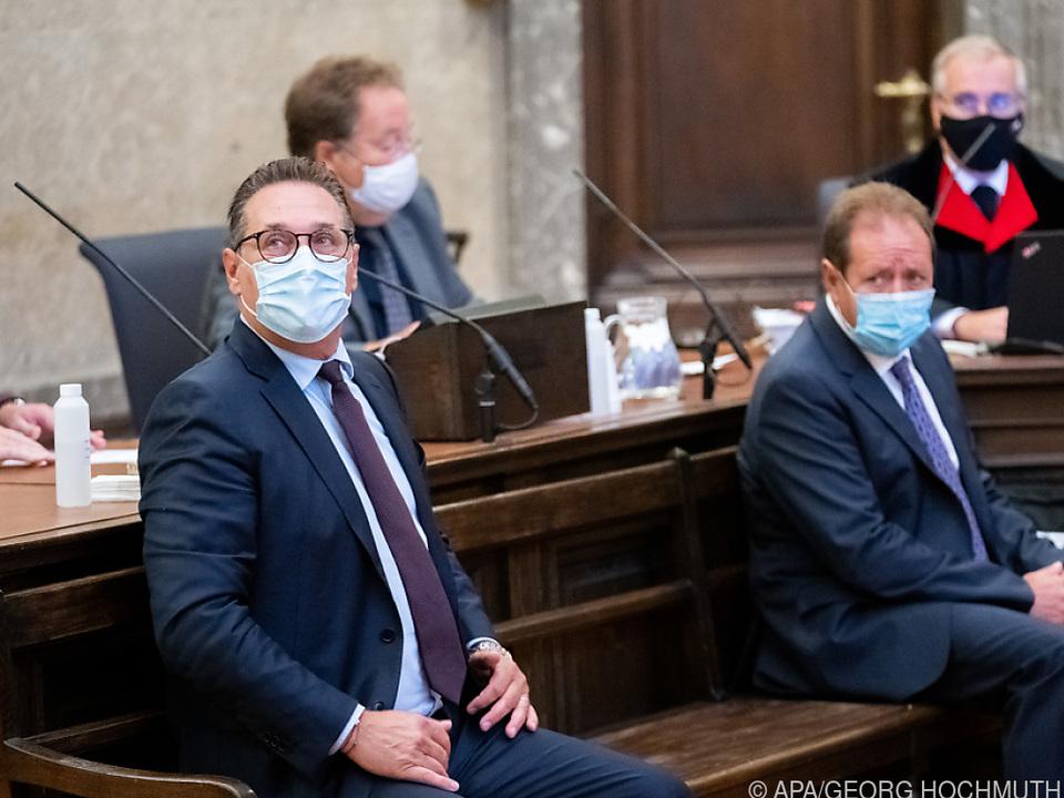 Ex-FPÖ-Chef Strache auf der Anklagebank