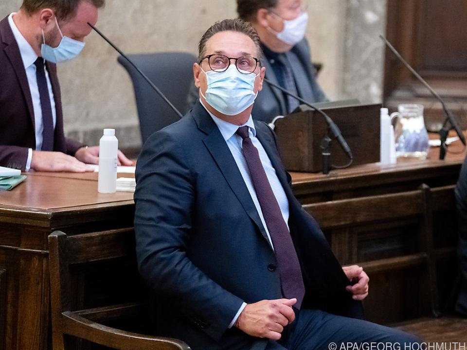 Ex-FPÖ-Chef Strache droht eine Haftstrafe im Fall eines Schuldspruchs.