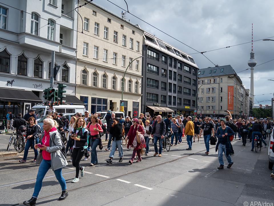Große Kundgebung in der deutschen Hauptstadt