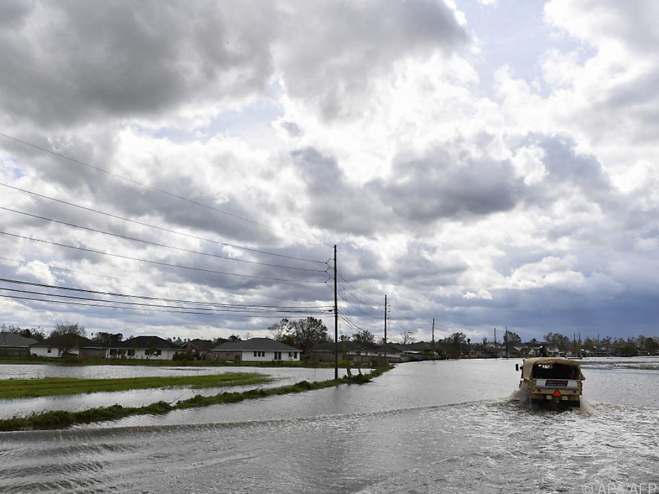 In Louisiana sind noch immer viele Straßen überflutet