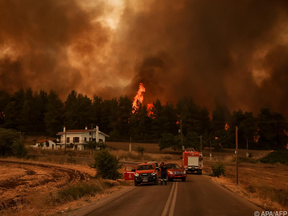 Mehrere Waldbrände in Griechenland