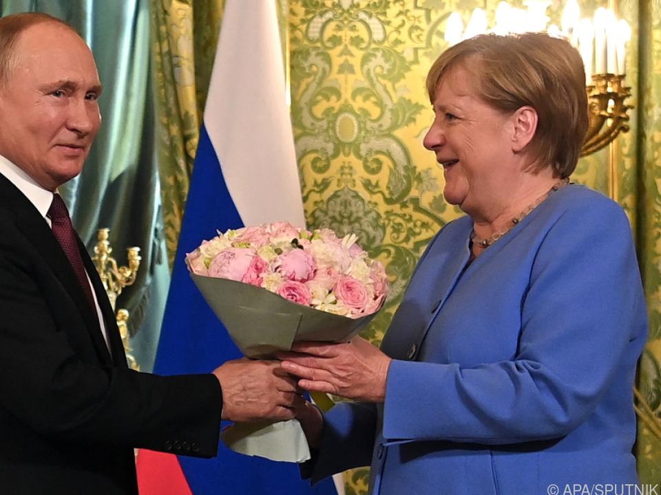 Merkel und Putin in Moskau