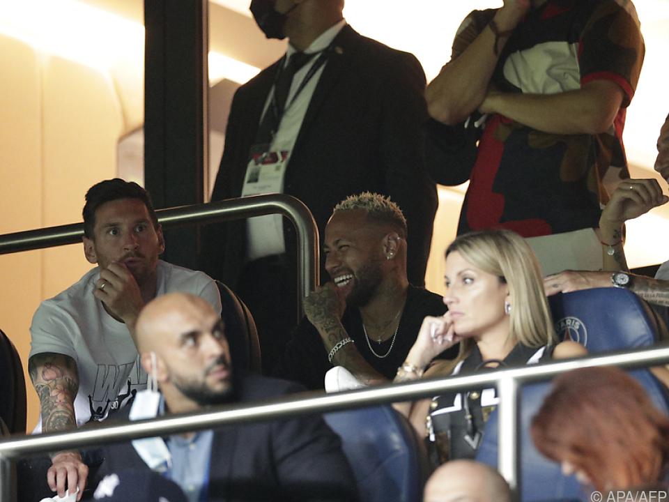 Messi, Neymar und Di Maria scherzten auf der Tribüne
