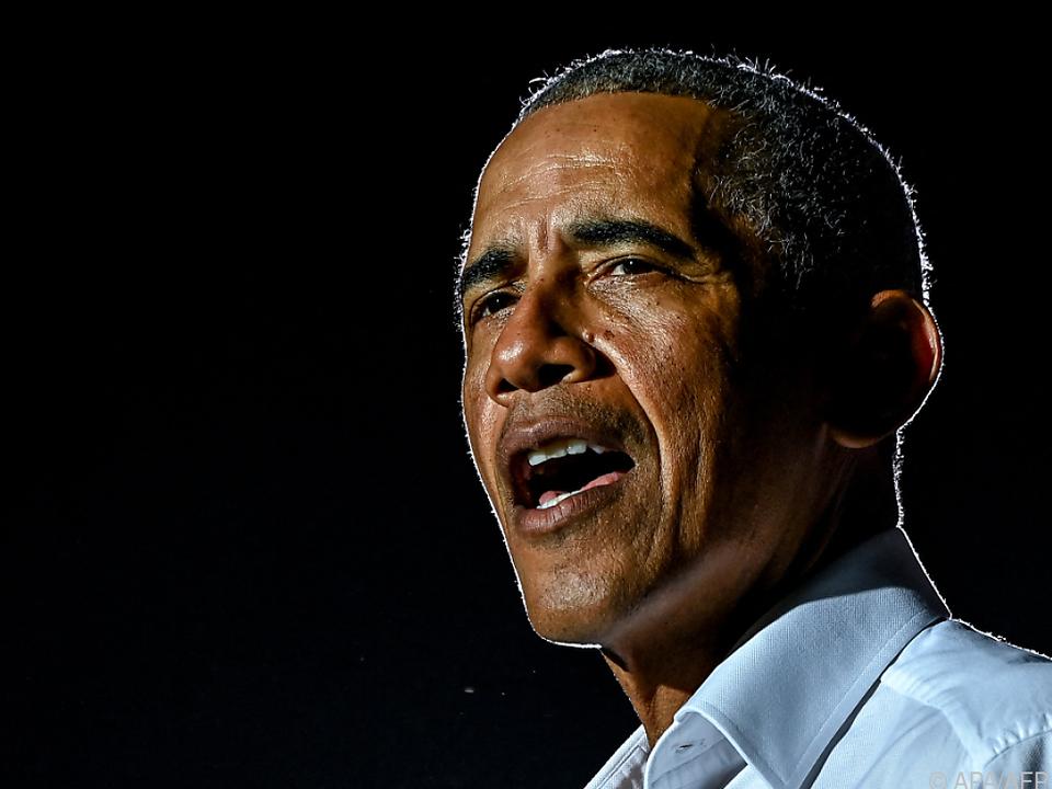 Obama speckte seine Feier ab