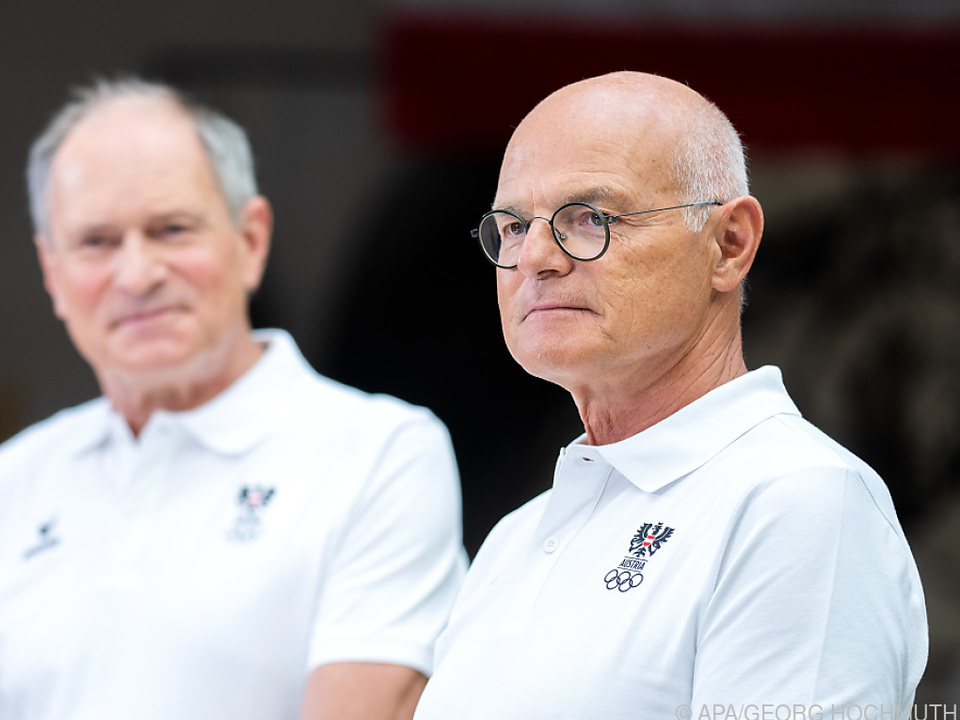 ÖOC-Präsident Karl Stoss (r.) und ÖOC-Generalsekretär Peter Mennel