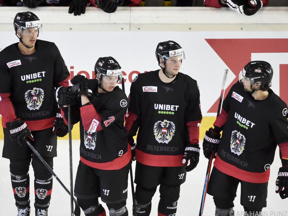 Österreichs Eishockey-Männer hatten am Ende nichts zu jubeln