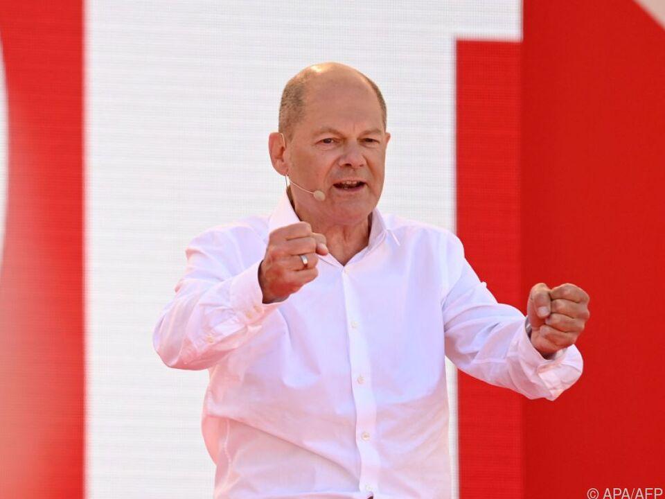 Olaf Scholz bei seiner Rede zum SPD-Wahlkampfauftakt in Bochum