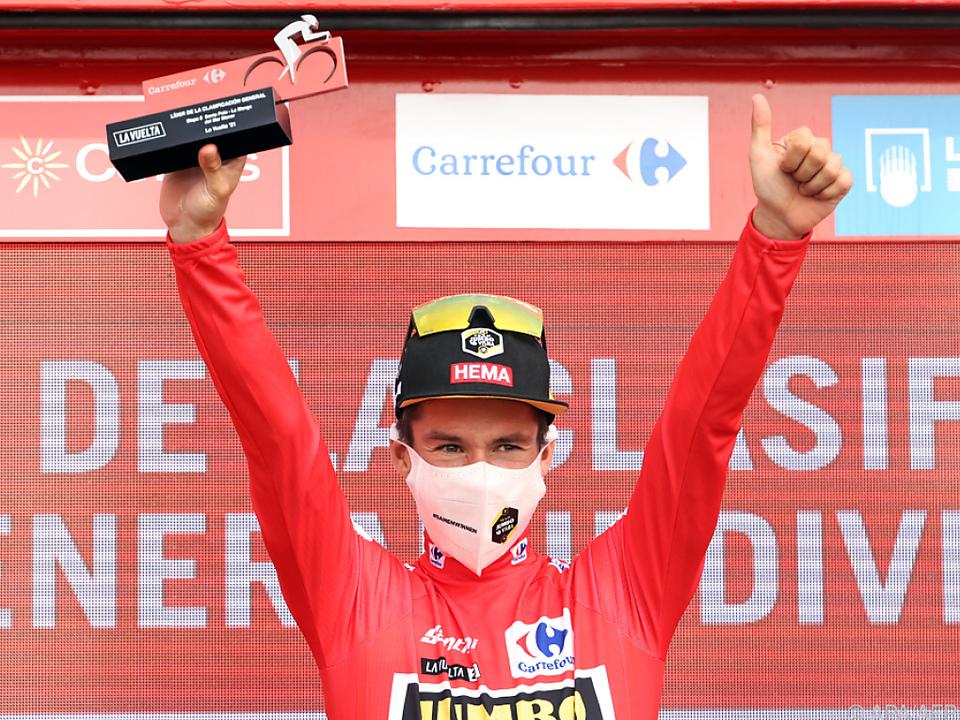 Primoz Roglic geht bei der Vuelta als Spitzenreiter in den Ruhetag