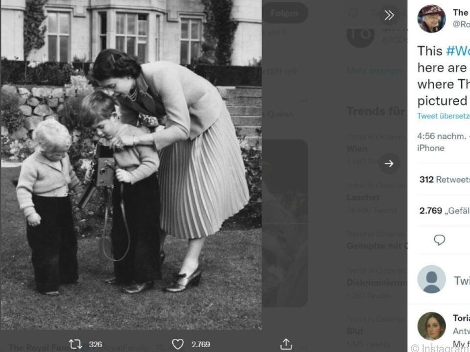 Queen Elizabeth beim Fotografieren