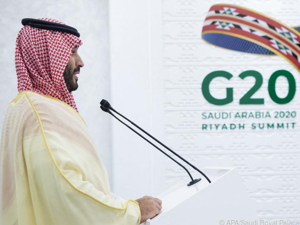 Saudischer Kronprinz Mohammed bin Salman beim G20-Gipfel