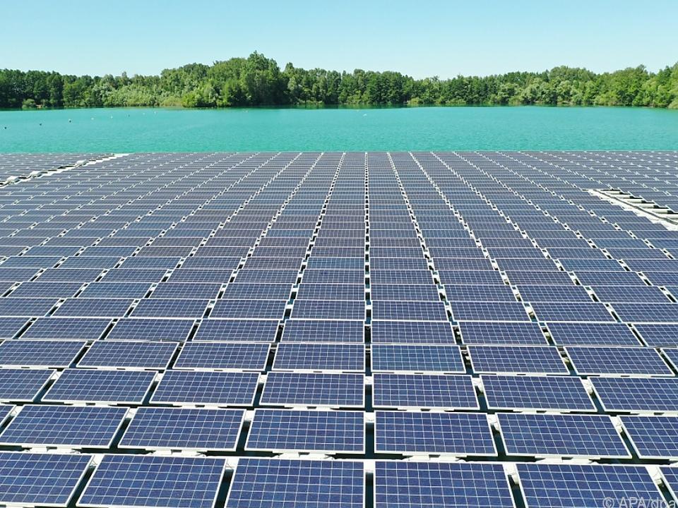 Schwimmender Solarpark geplant