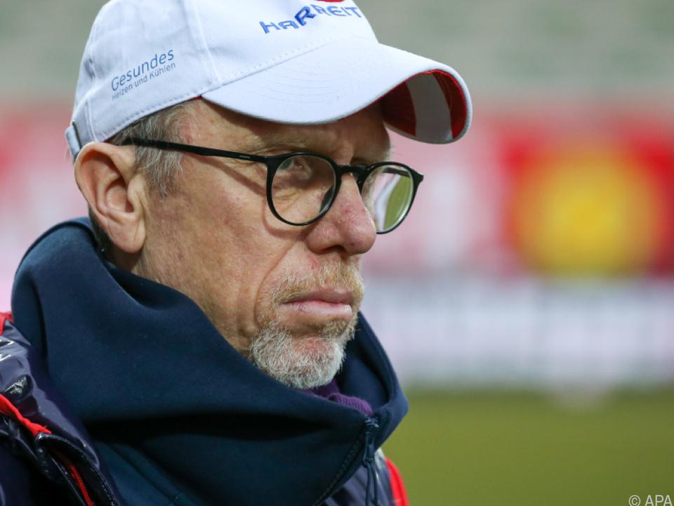 Stöger (Archivbild) ist der Champions League ein Stück nähergerückt