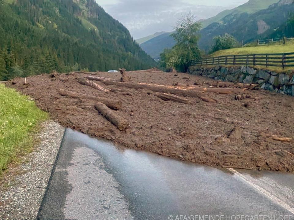 Straße in Osttirol musste gesperrt werden