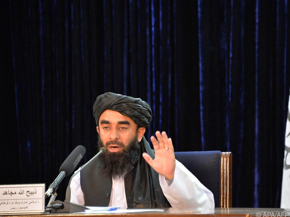 Taliban-Sprecher Mujahid sprach mit der \