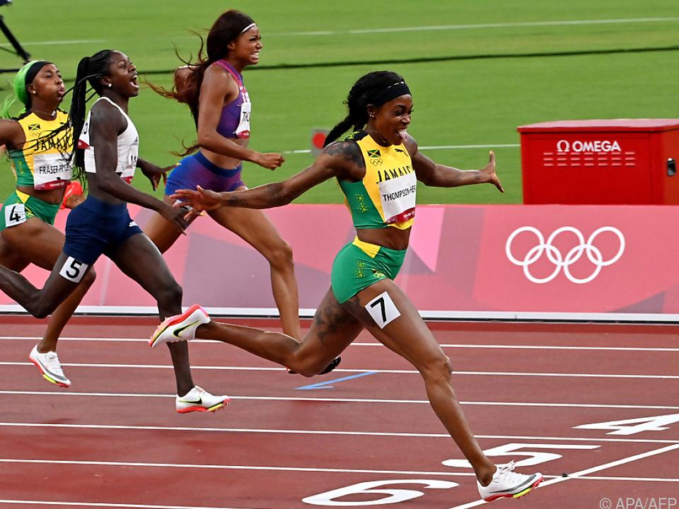 Thompson-Herah siegte auch über 200 m