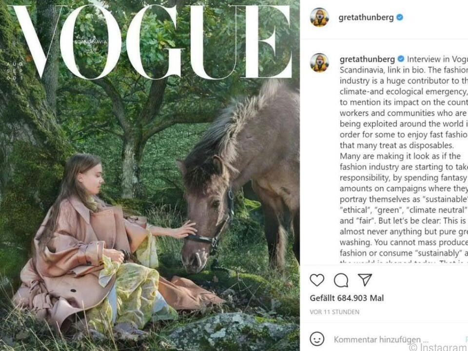 Thunberg wies auf die Probleme hin, die mit schneller Mode einhergingen