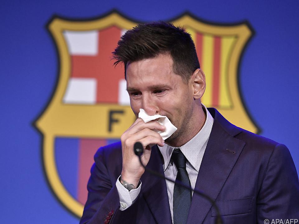 Tränen zum Abschied bei Lionel Messi