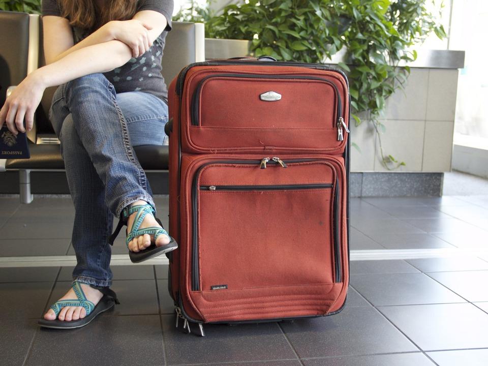 Reise Koffer Flughafen