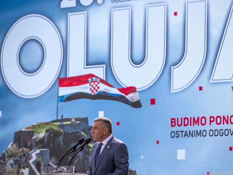 Umstrittener General Gotovina als Redner bei kroatischer Feier