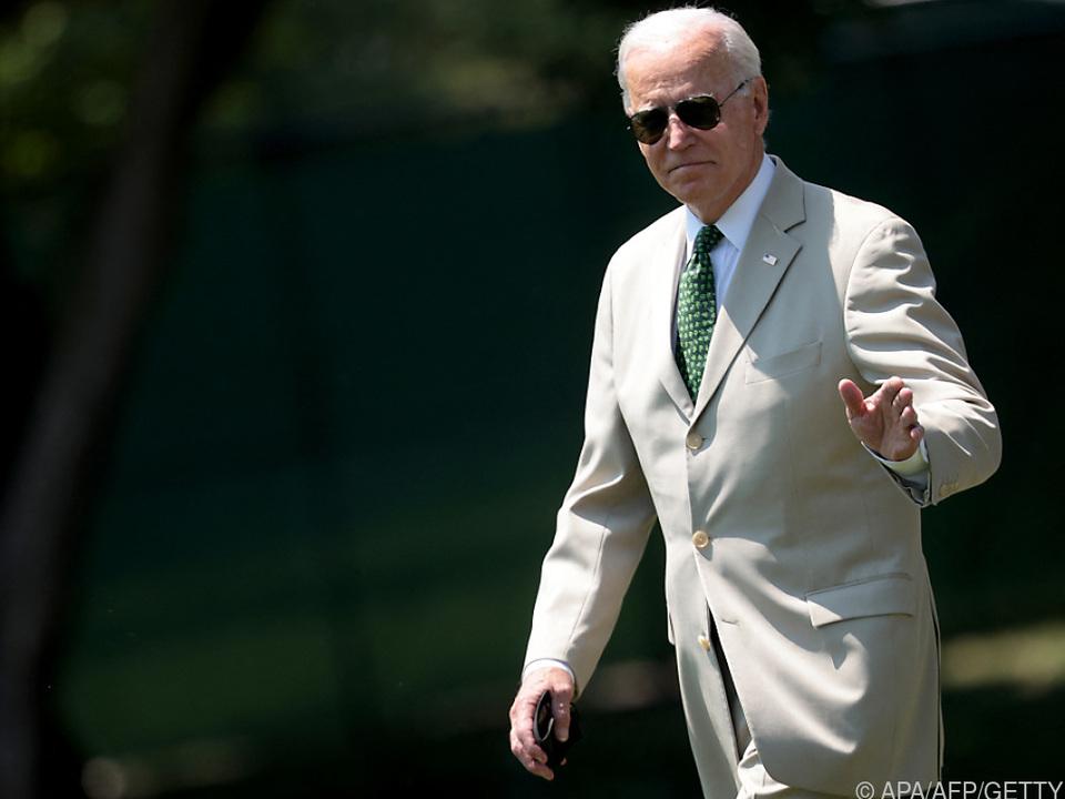 US-President Joe Biden setzt ein modisches Zeichen