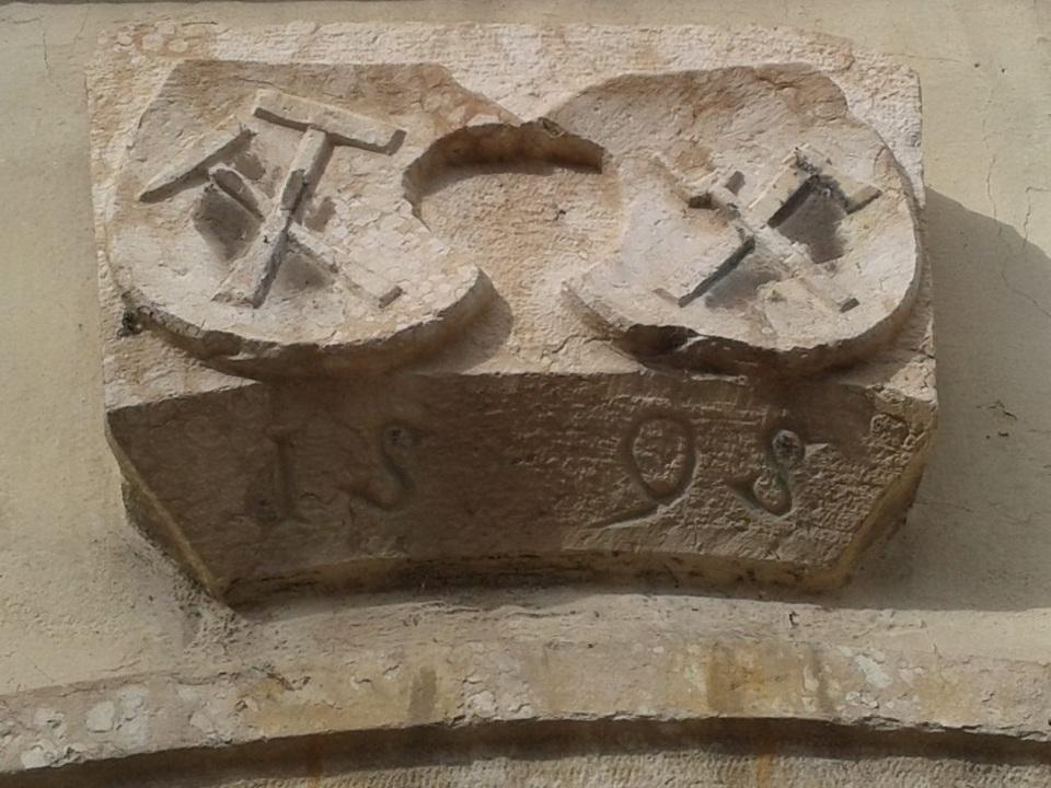 Wappen der Bergwerksbruderschaft in Pergine