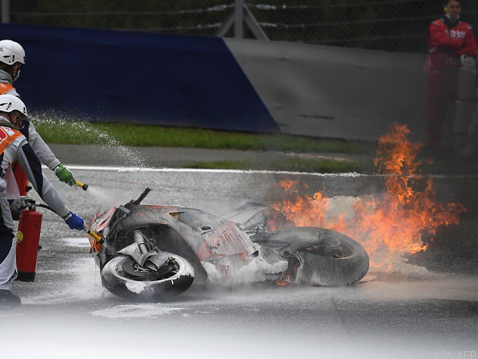 Wegen Unfällen wie diesem bekommt Red Bull Ring MotoGP-Schikane
