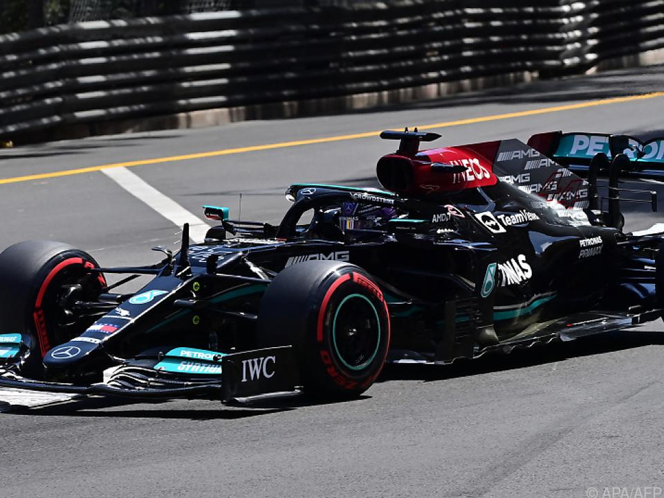 WM-Titelverteidiger Lewis Hamilton im Mercedes