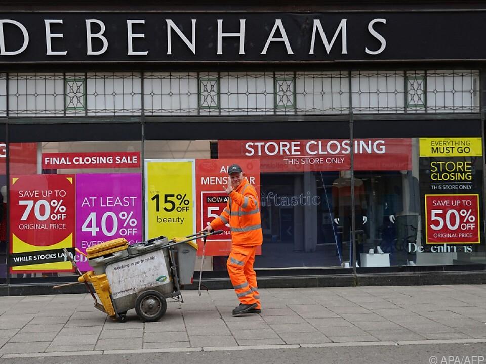 Zahlreiche Debenhams-Filialen geschlossen