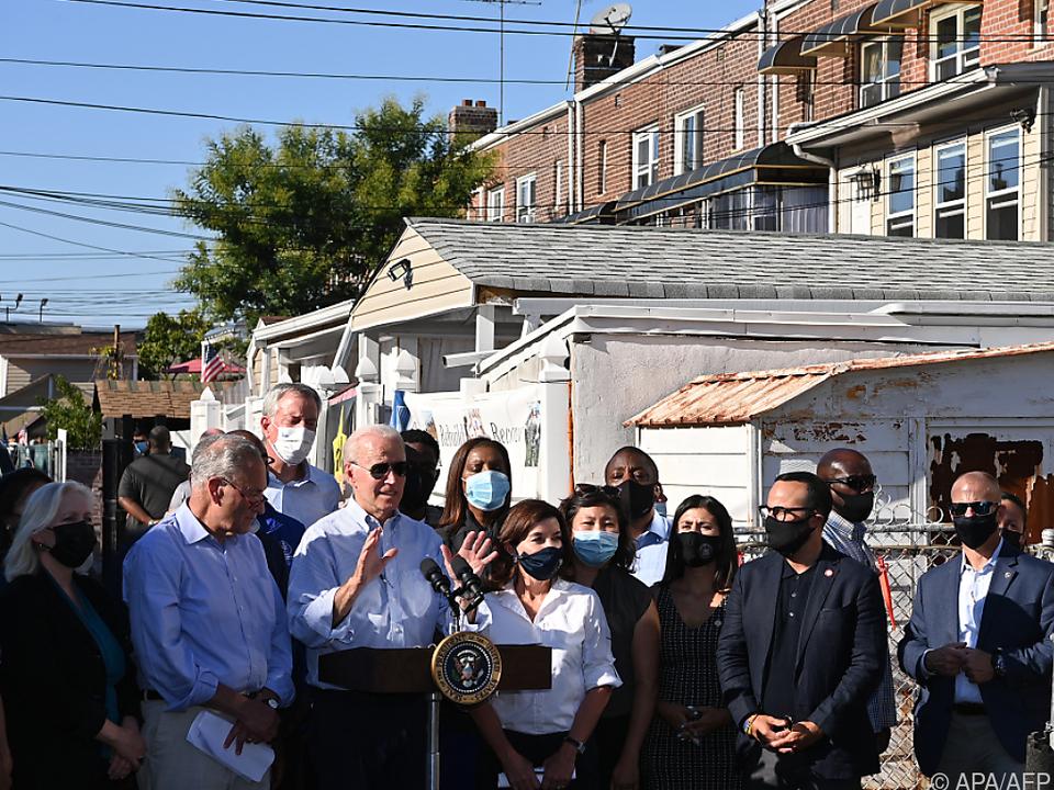 Biden bei einem Besuch im New Yorker Stadtteil Queens