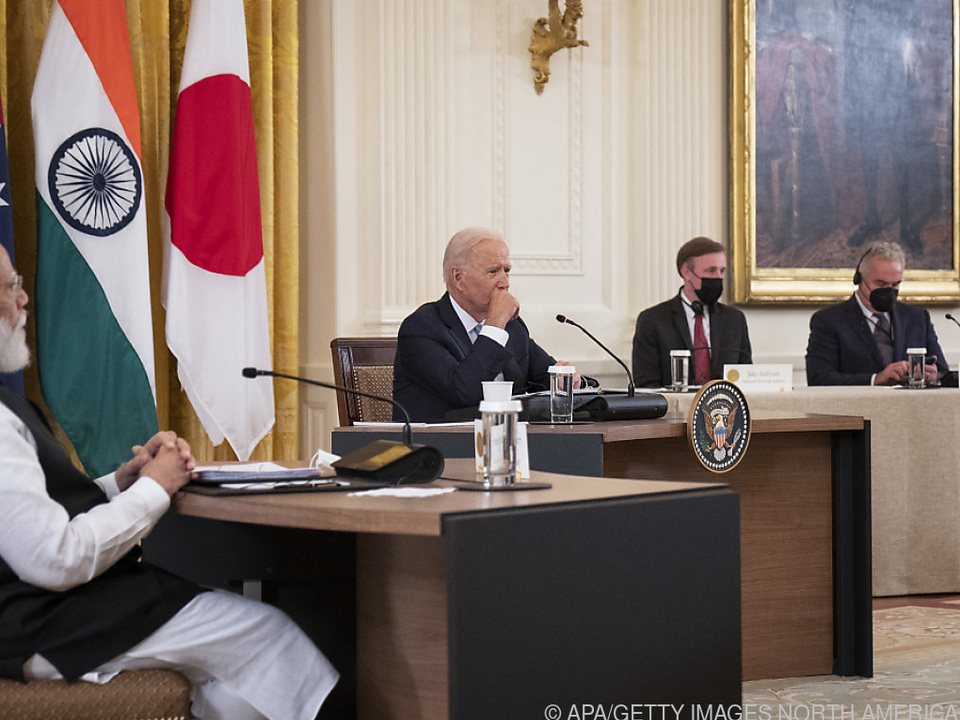 Biden traf Regierungschefs Indiens, Australiens und Japans im Weißen Haus