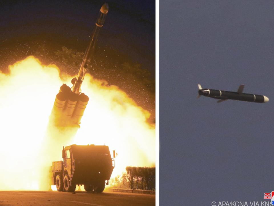 Bilder von Nordkoreas staatlicher Nachrichtenagentur KCNA