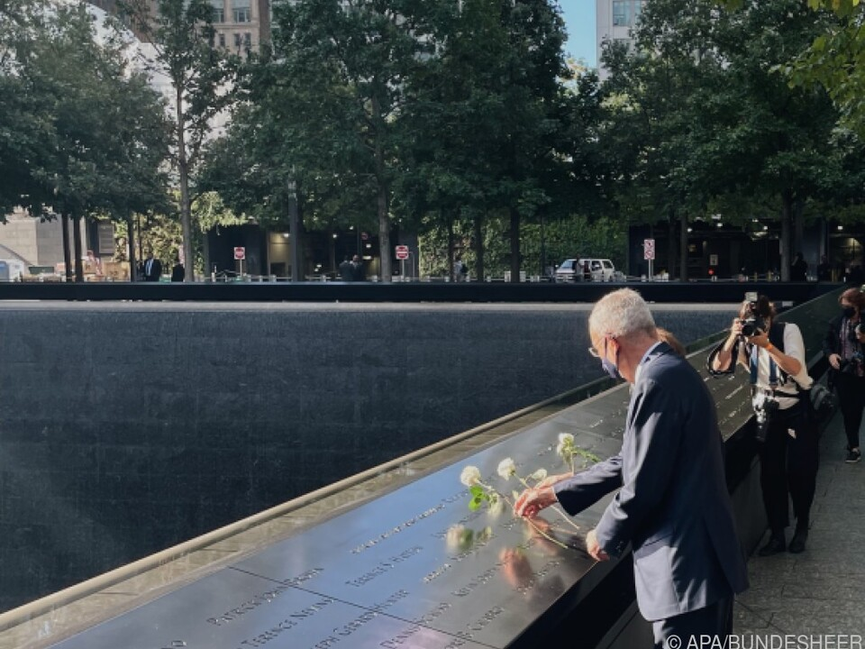Bundespräident Van der Bellen am Montag beim 9/11-Memorial in NV