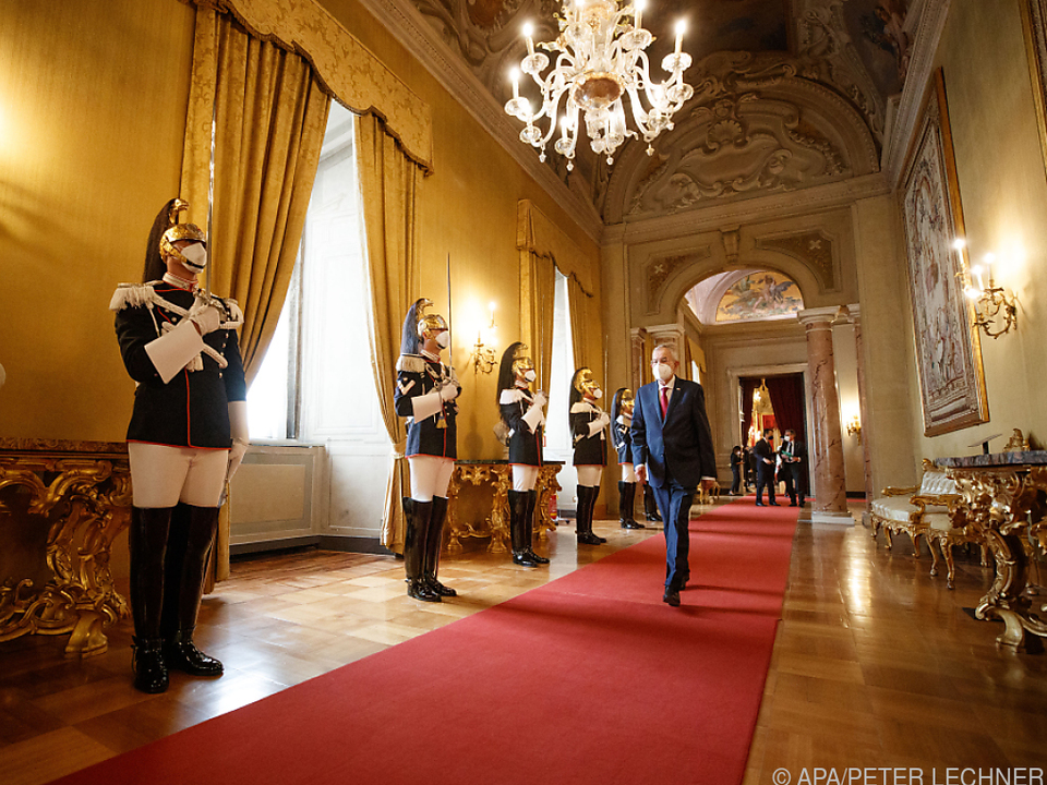 Bundespräsident Van der Bellen beim Arraiolos-Treffen in Rom